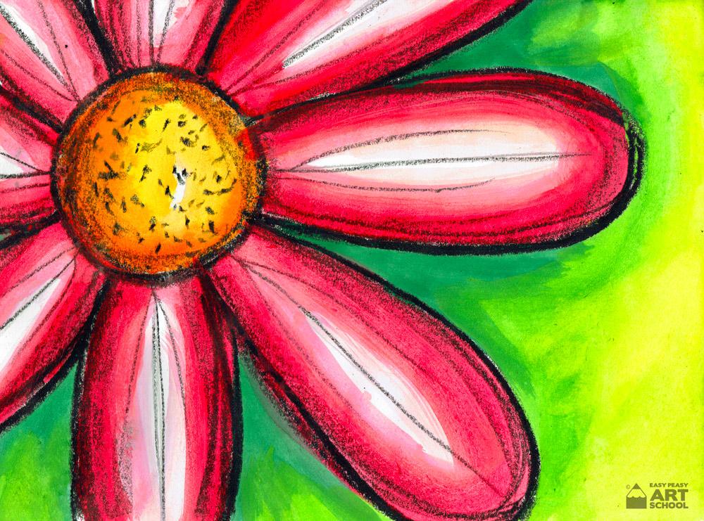 Macro Flower - Easy Peasy Art School