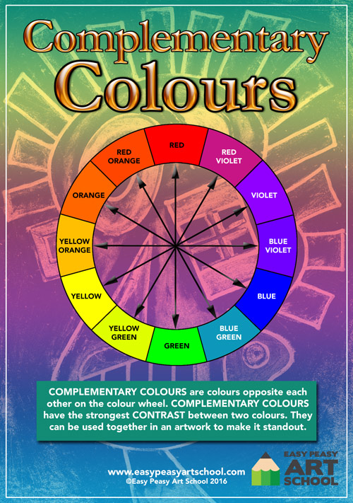 Complementary Colour Wheel - Easy Peasy Art School