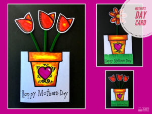 Mother's Day Card by Easy Peasy Art School video