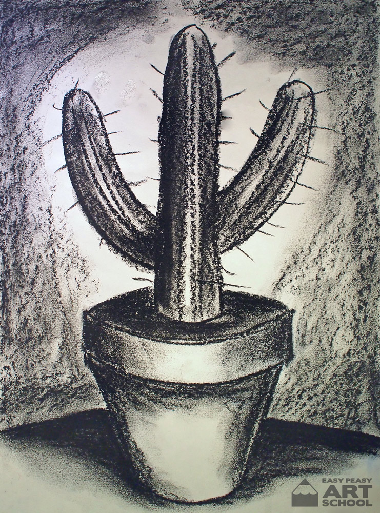 Free Lesson - Cactus - Easy Peasy Art School