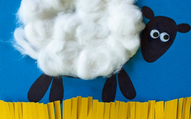 woolly sheep art lesson plan