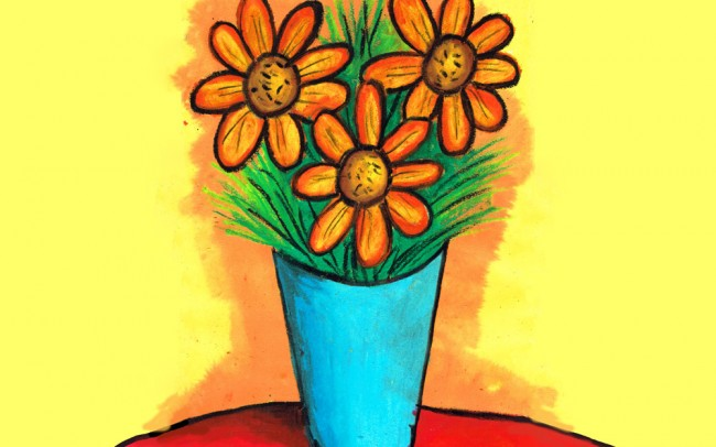 Still Life Vase of Flowers Lesson Plan