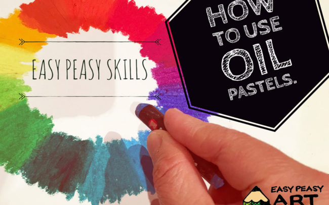 How to use oil pastels - Art Lesson Easy Peasy Art School