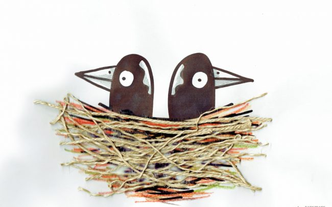 Baby Magpies - Easy Peasy Art School