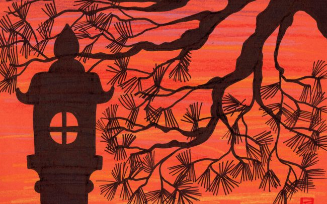 Lantern Sunset - Easy Peasy Art School