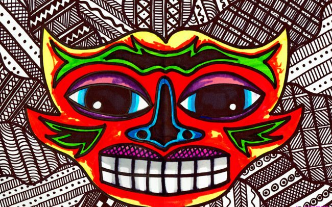 Tribal Pattern Mask - Easy Peasy Art School