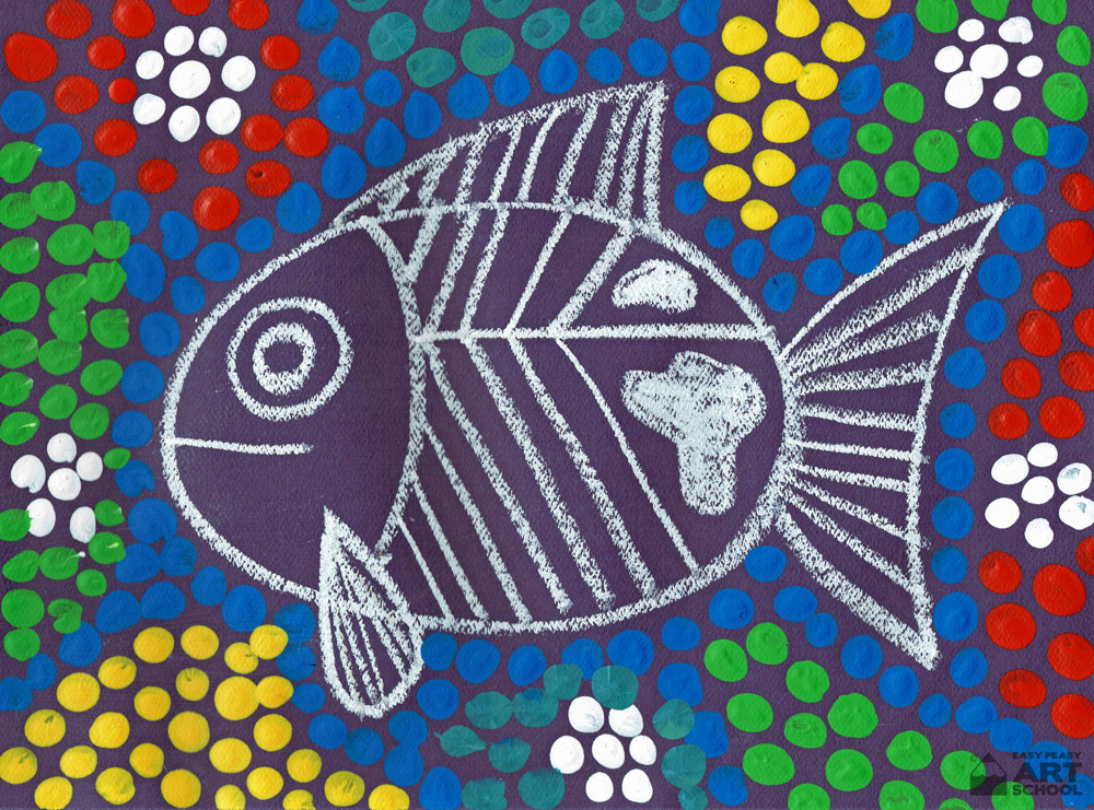 Dot Painting Fish Easy Peasy Art School