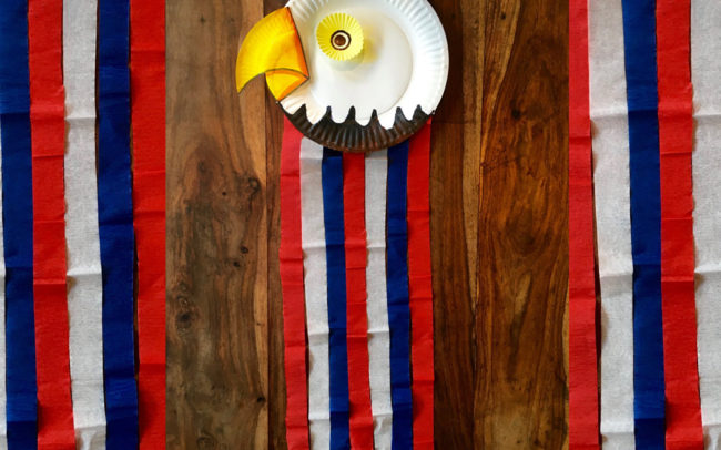 Independence Day Bald Eagle Art Lesson- Easy Peasy Art School
