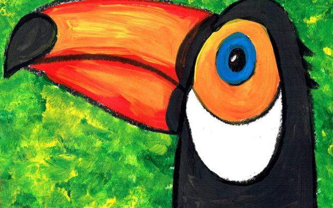 Rio the Toucan art lesson - Easy Peasy Art School