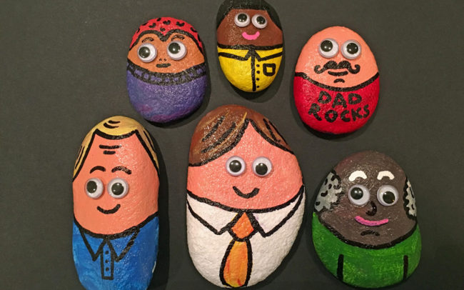 Dad Rocks - Father's Day - Easy Peasy Art School