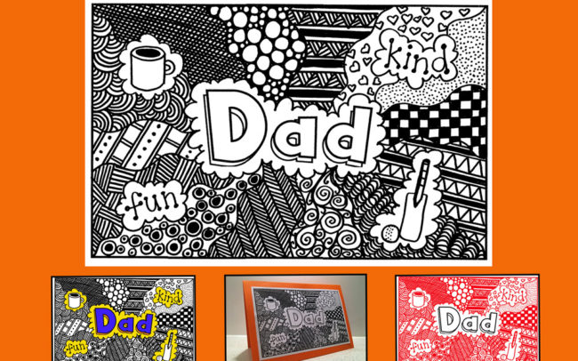 Father's Day Card - Easy Peasy Art School