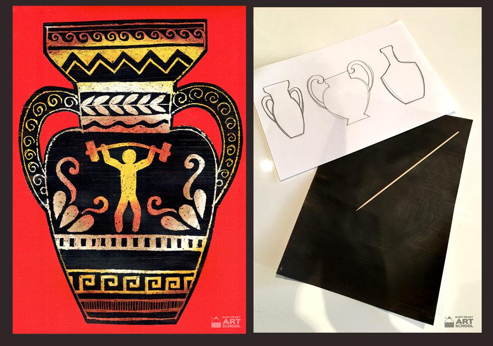 Olympic Games Greek Vase Easy Peasy Art School Easy Peasy Art