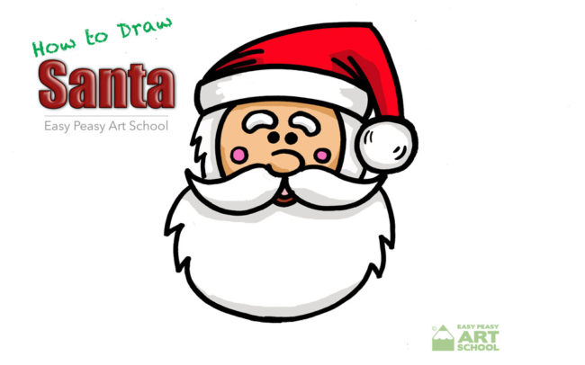 How to Draw Santa Easy Peasy Art School