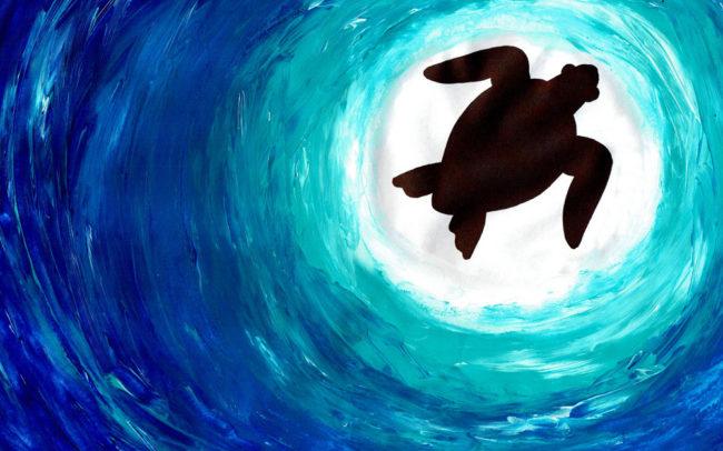 Sea Turtle lesson by Easy Peasy Art School