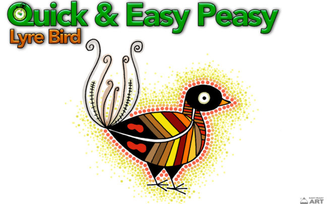 Quick & Easy Peasy Lyre Bird by Easy Peasy Art School