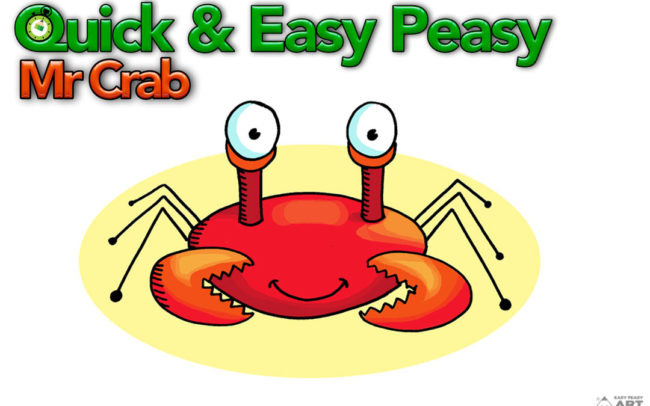 Quick & Easy Peasy Mr Crab Easy Peasy Art School