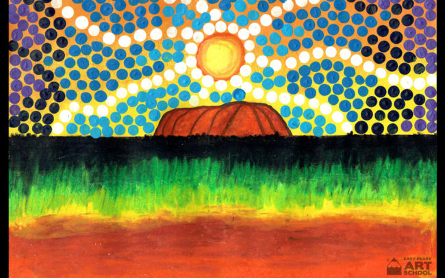 Uluru Art Lesson by Easy Peasy Art School