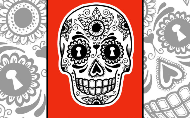 Advanced Sugar Skull Art Lesson By Easy Peasy Art School