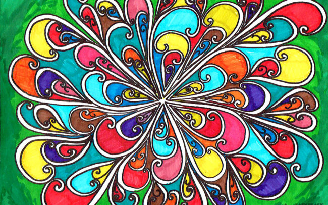 Swirly Whirly: Line and pattern art lesson by Easy Peasy Art School