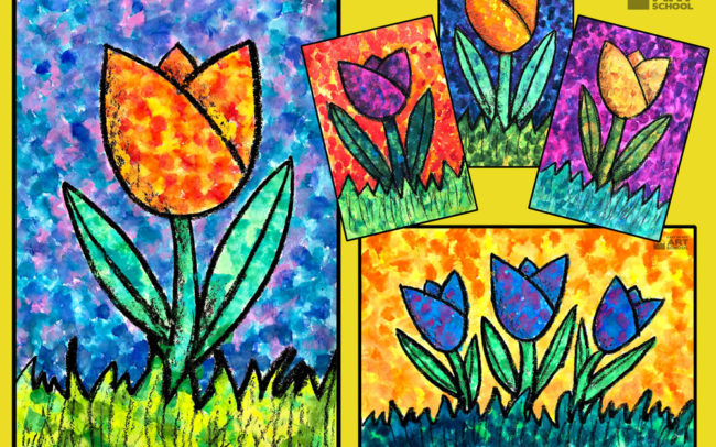 Seurat's Tulips by Easy Peasy Art School